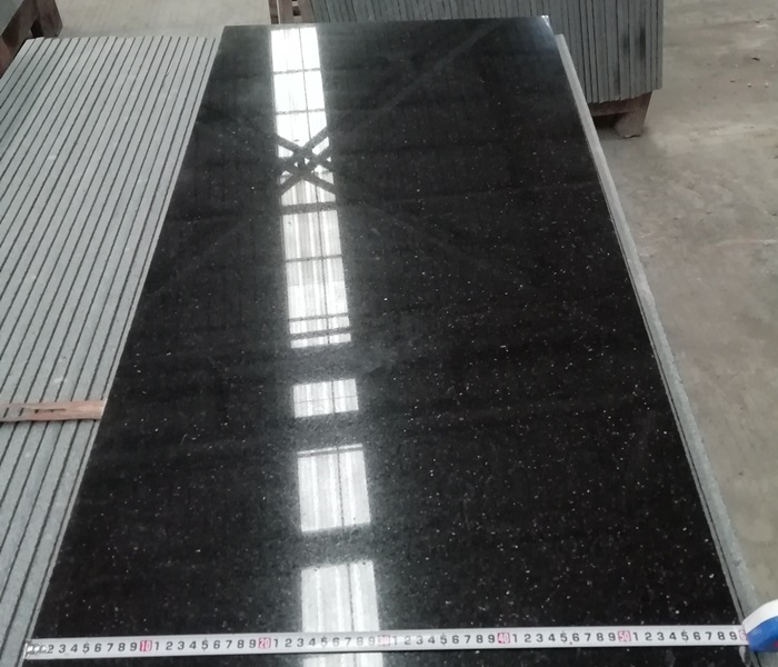 Indian Black Galaxy Granite Tiles 120 60