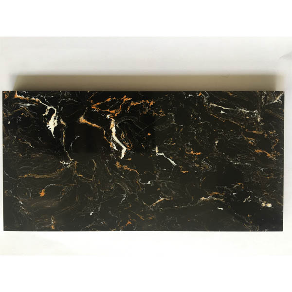 Black & Gold Artificial Marble