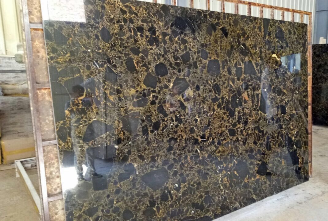 black golden marble