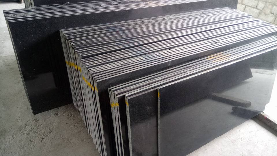India black granite slab