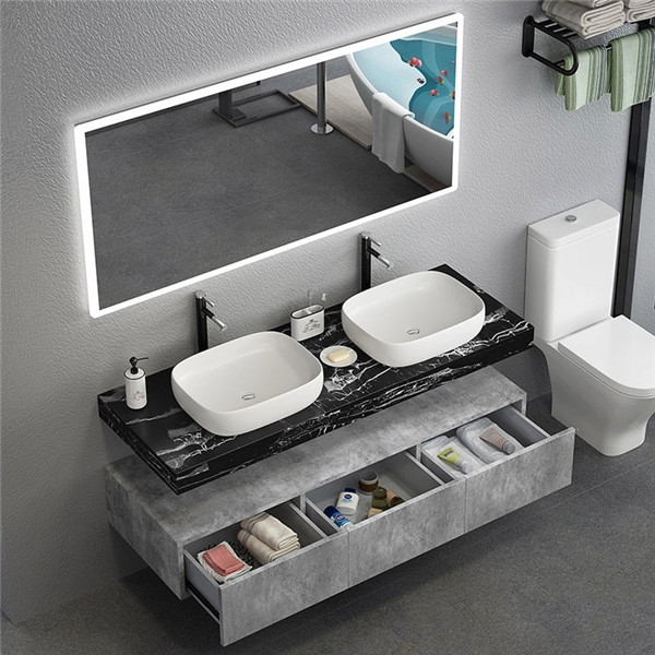 Nero Portoro Marble Bathroom Vanities With Tops