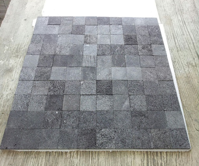 Indonesia Volcanic Black Lava Stone Tiles For Swimming Pool Tiles