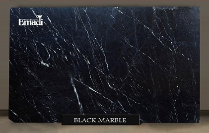 Black marble slabs natural