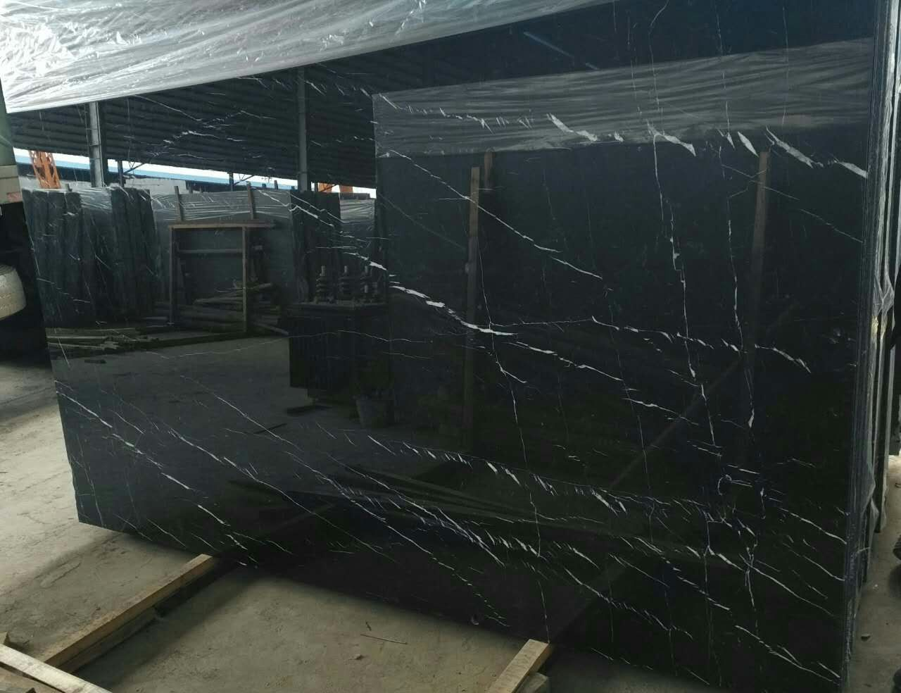 Spanish Black Marble Nero Marquina Select Marble Negro Bilbao Marble Negro Marquina Marble tiles and slabs