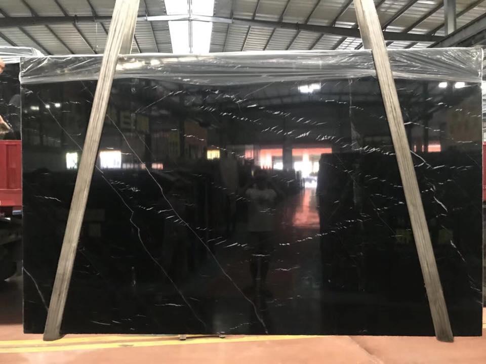 black marquino marble slab