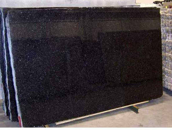 Black Pearl Polished Granite Slabs from India