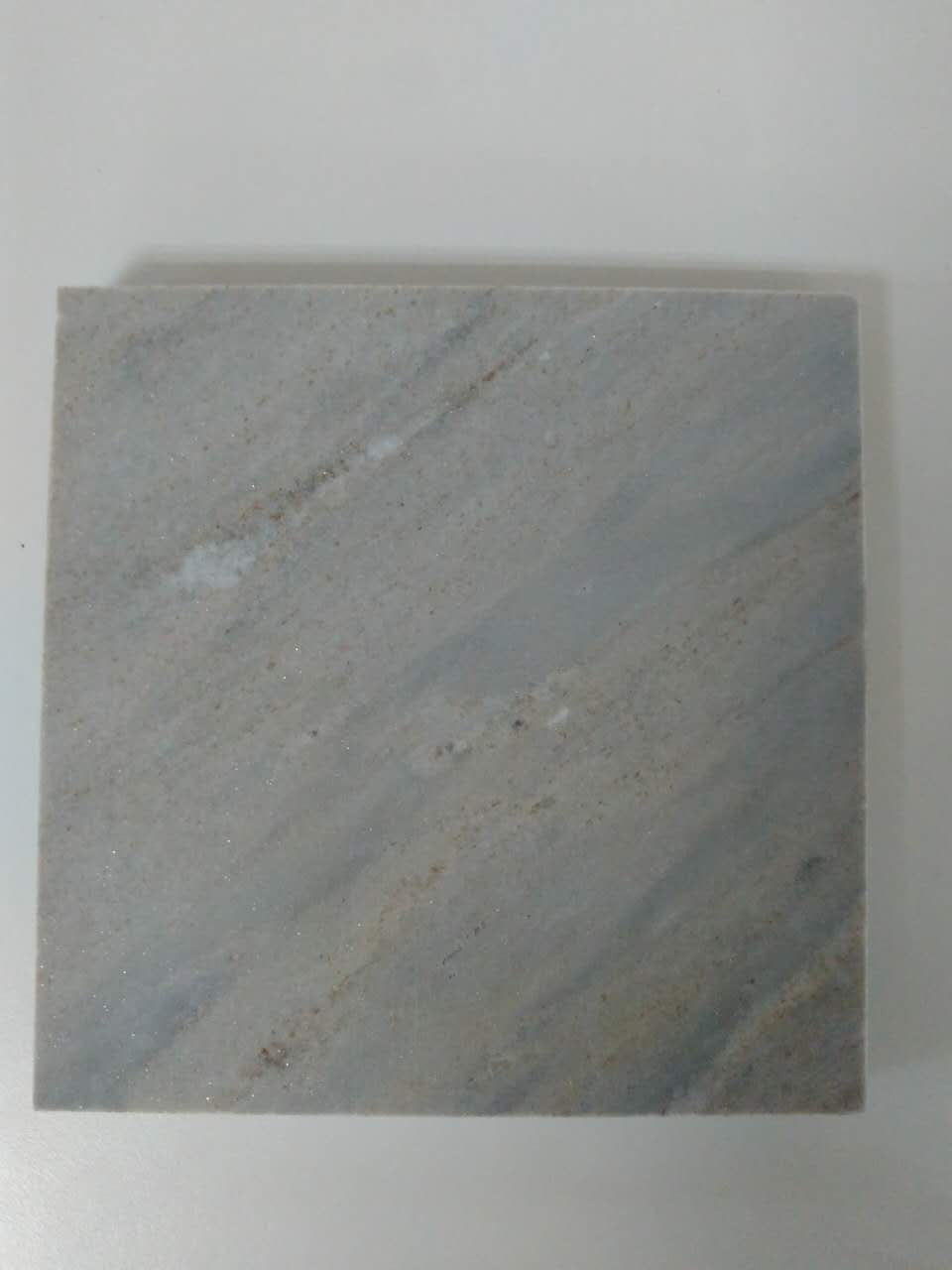Blue Nuvolato marble slab benchtop decoration