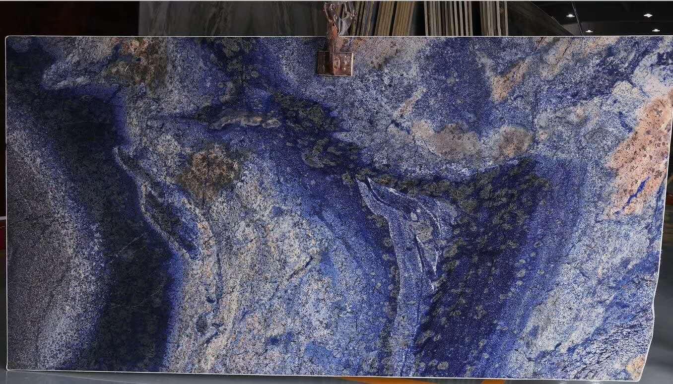 Sapphire Blue Granite Slab for Interior Wall Design