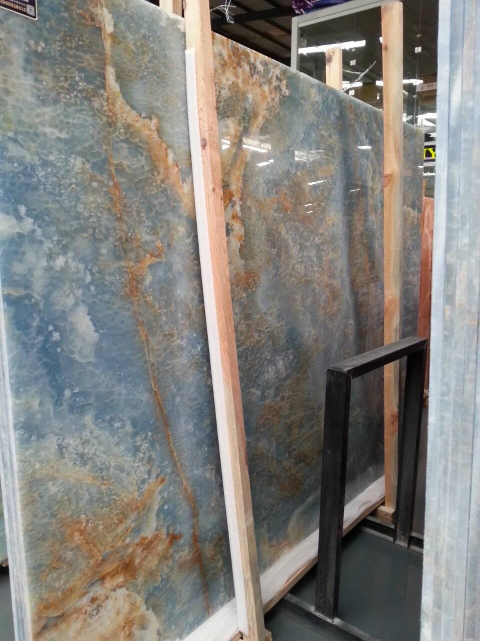 Blue onyx big slab