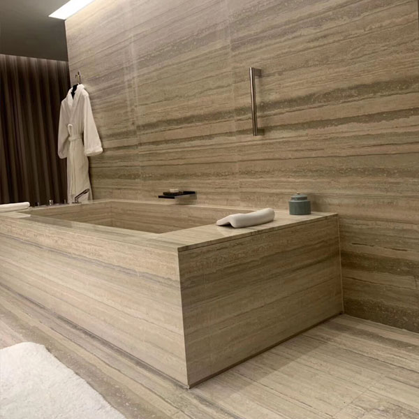 Grey travertine for hotel