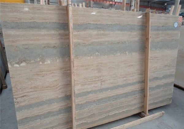 Blue Travertine Vein Cut Slabs  Blue Polished Travertine  Blue Travertine Slab