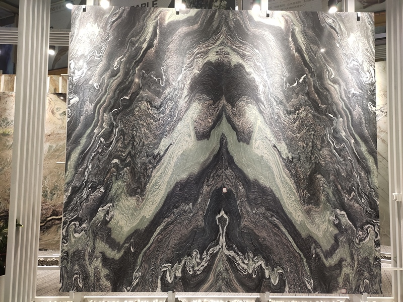 Bookmatch Marble Slabs for Background Wall