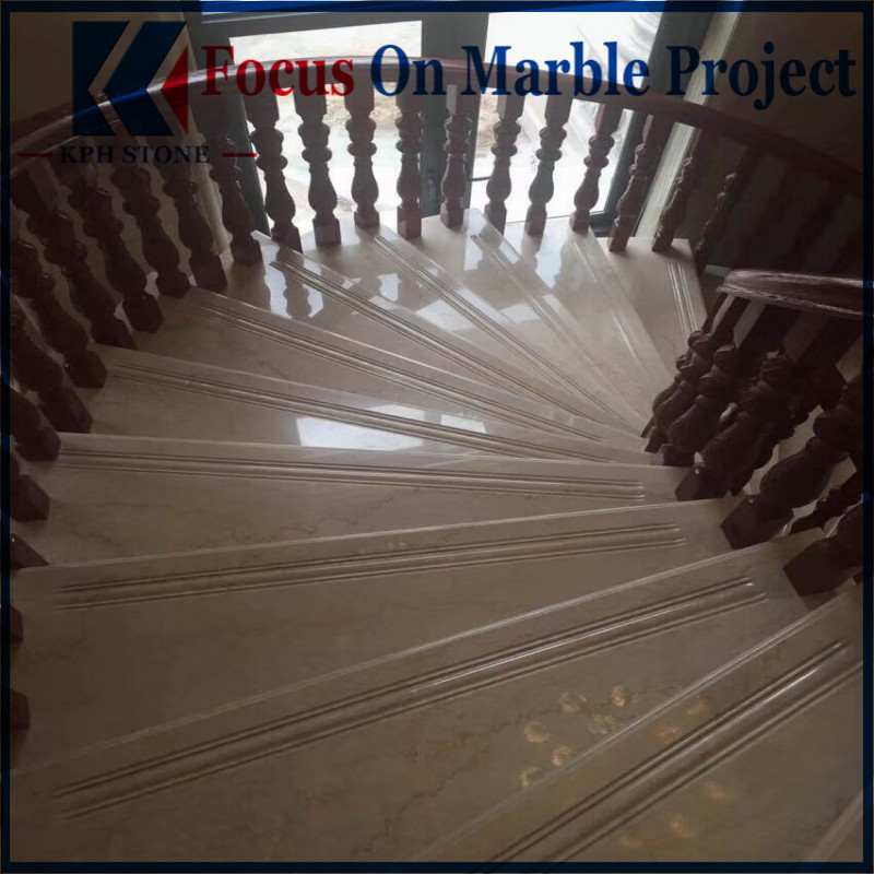 Botticino Classico Marble Stair Tiles