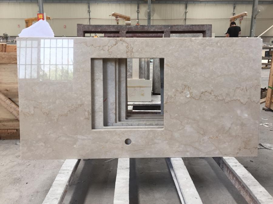 botticino classico marble countertop
