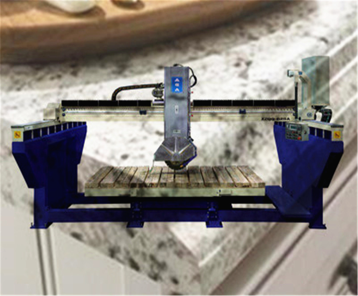 Monoblock Stone Cutting Machine for Sawing Tiles Countertops