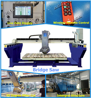 Automatic Granite Marble Bridge Saw