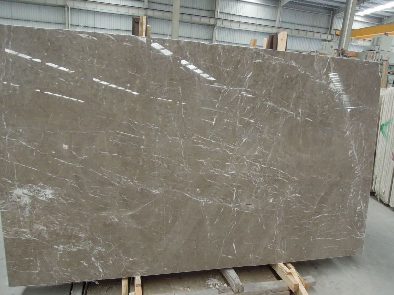 Brown Amani marble slabs polished