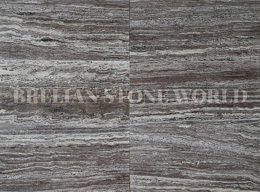 brown travertine tile