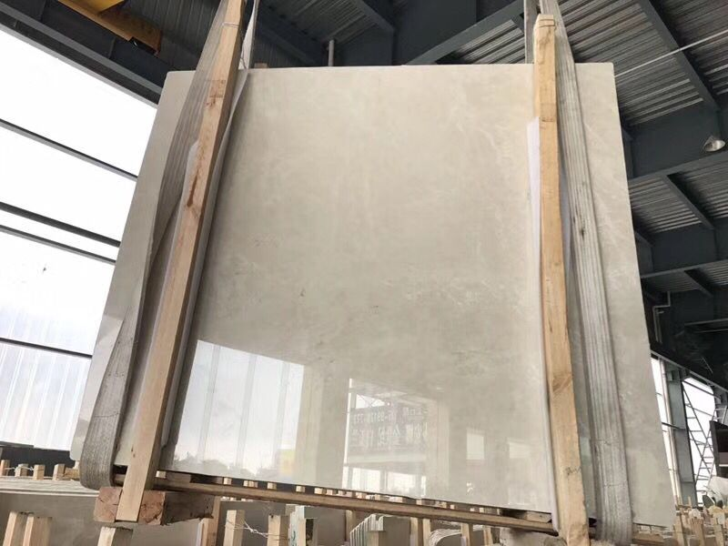 burder cream marble slabs gangsaw size polished A quality slabs
