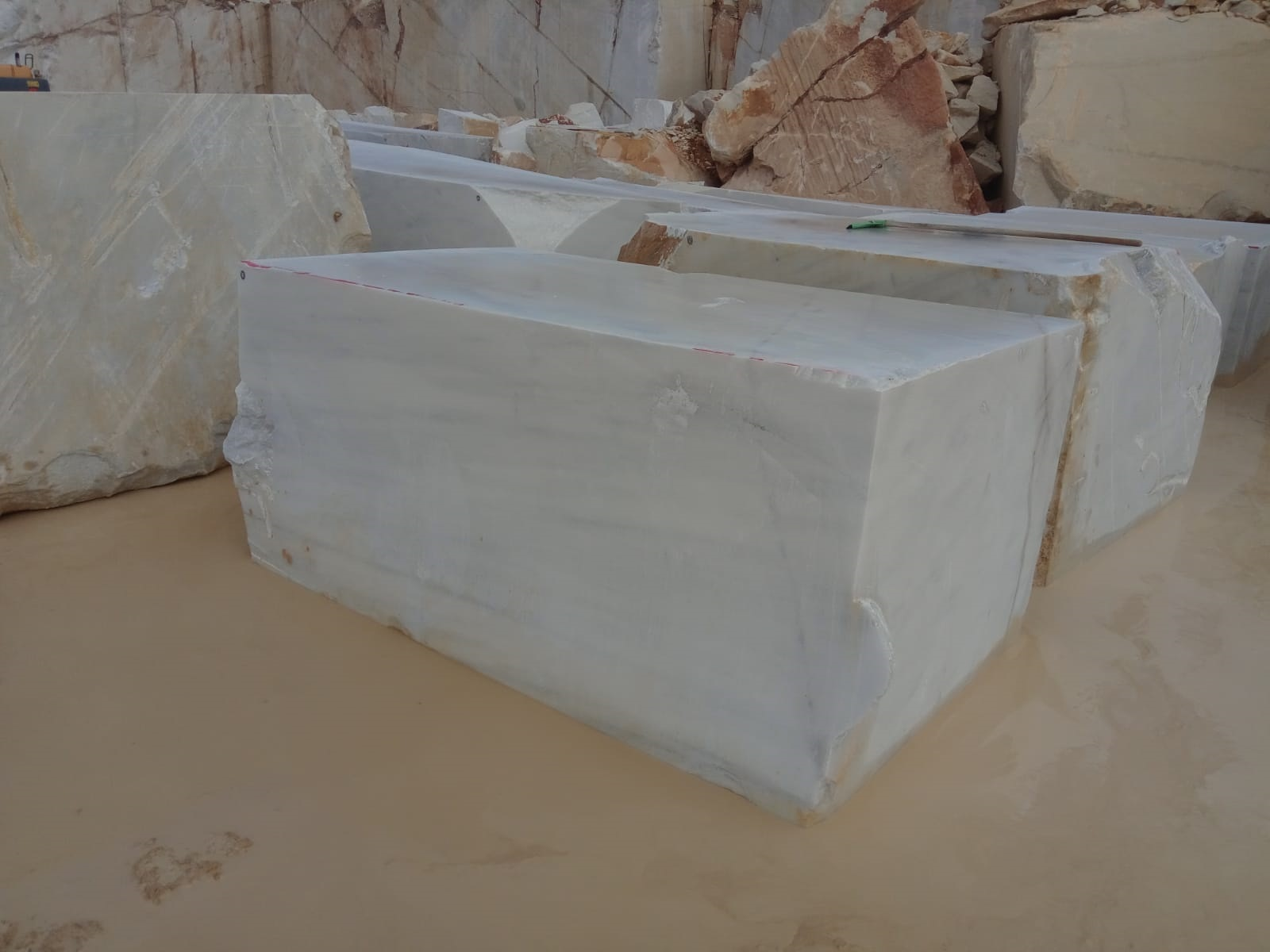 Bursa White Marble Blocks