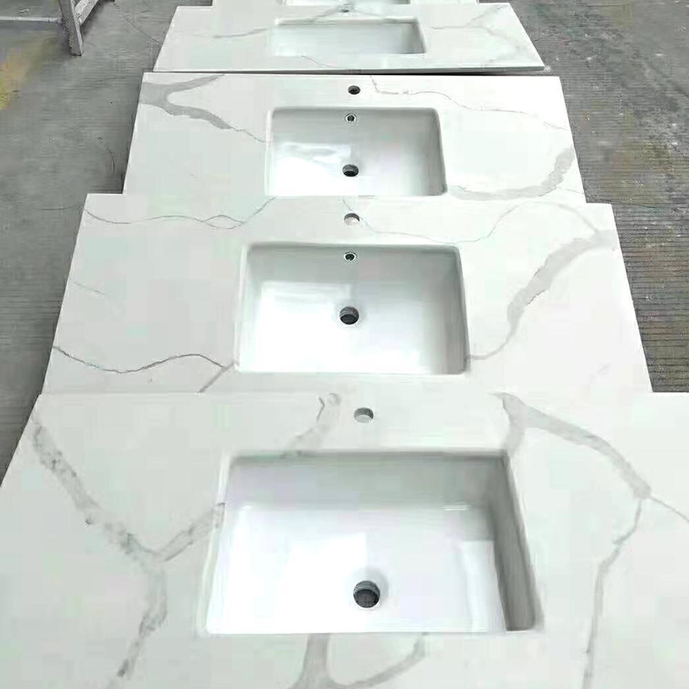 countertop white marble