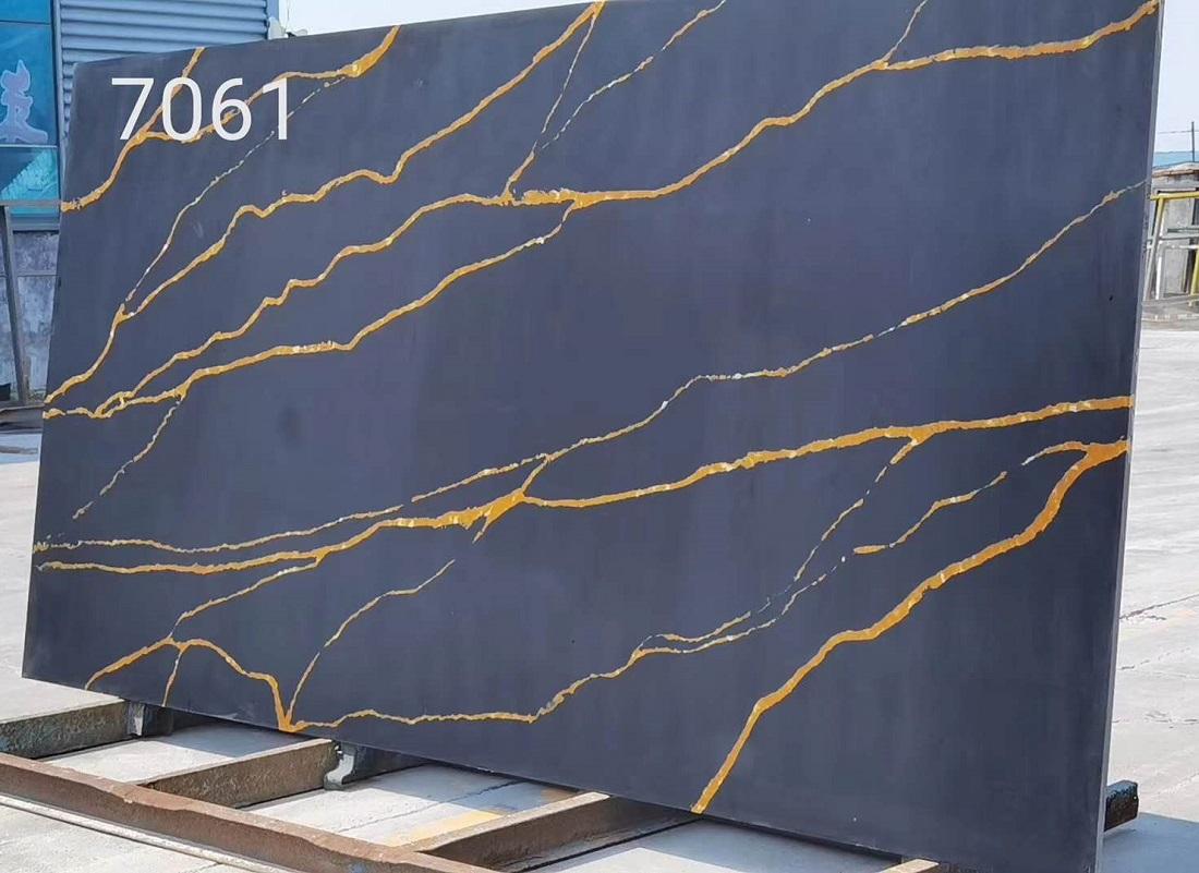 calacatta gold quartz stone slab