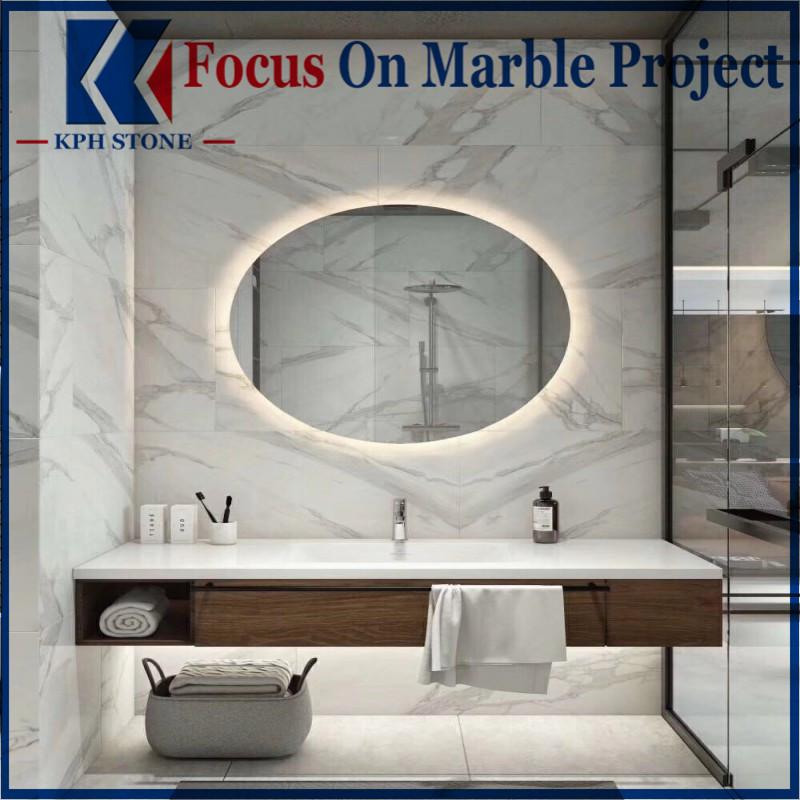 Bianco Calacatta Bathroom Marble Wall Tiles