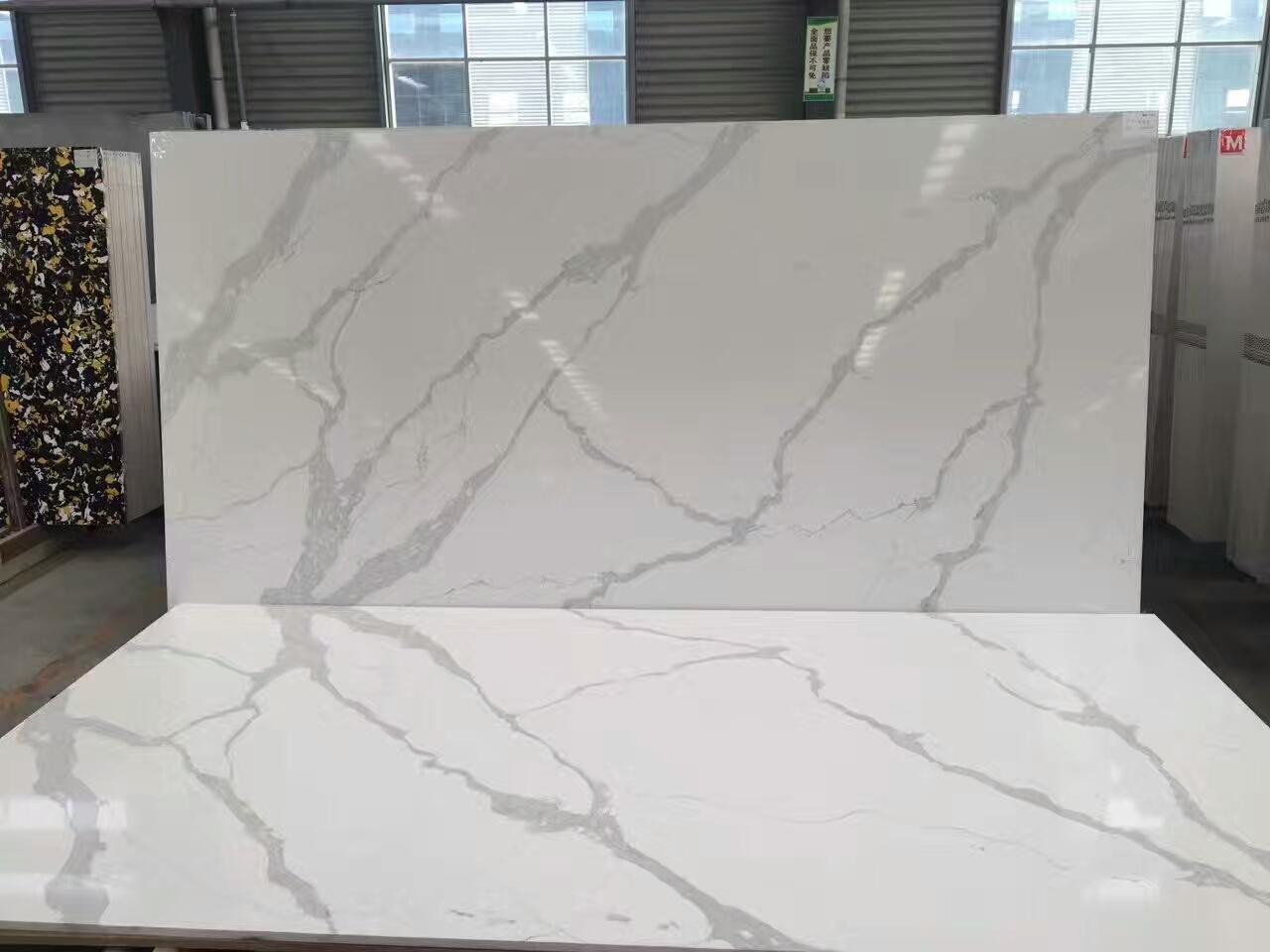 white quartz with grey veins