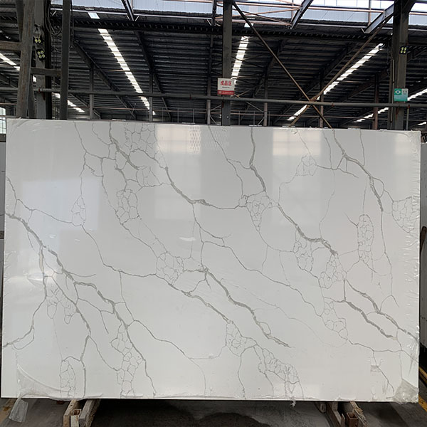 Calacatta white quartz color