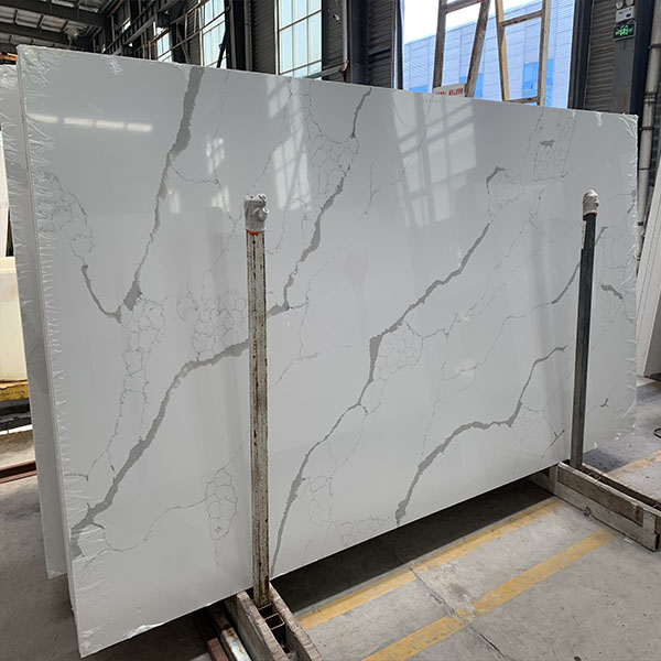 Calacatta White quartz grey veins