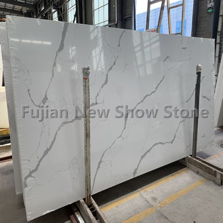 Quartz slab white color