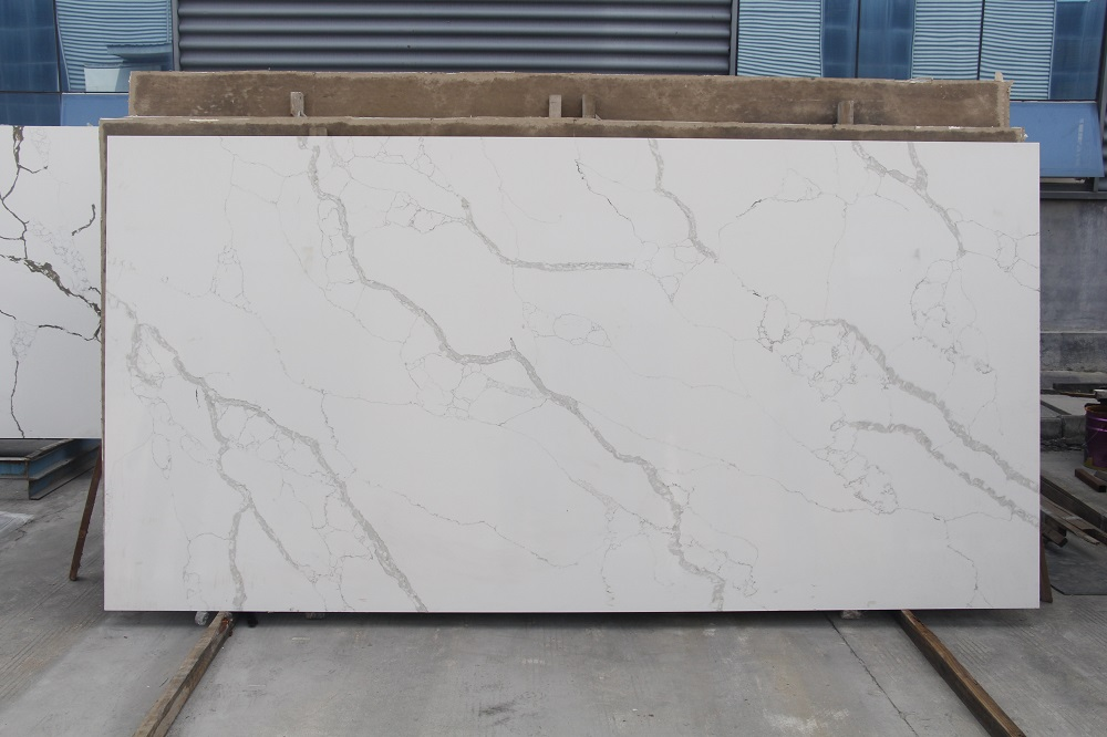 New calacatta white quartz stone slab