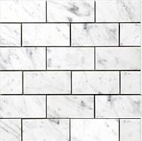 Carrara white marble Subway mosaic Bianco Carrara Statuario Marble Marmol Blanco Statuario Carrara Statuario