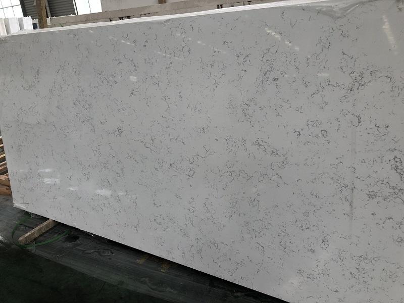 carrara classic quartz stone slab