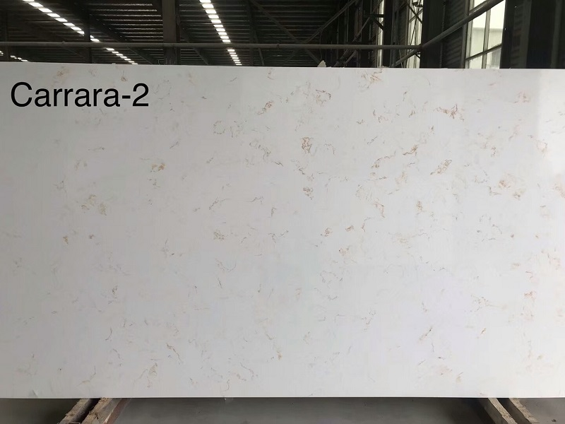 carrara gold quartz stone slab