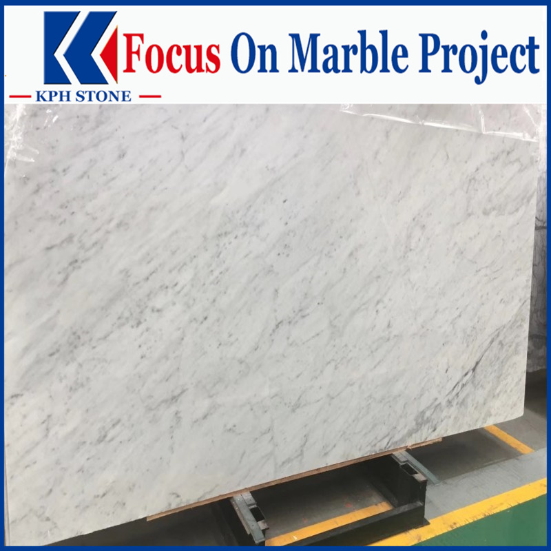 Bianco Carrara Marble White Slabs for hotel projects