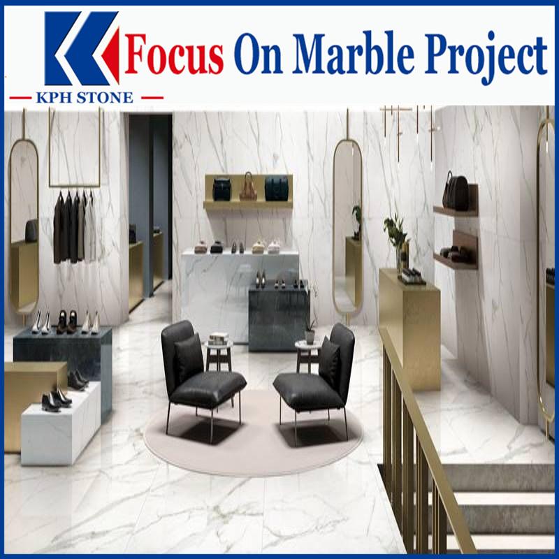 Branco White Carrara Marble for house decorative