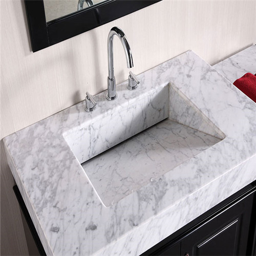 Customize Carrara White Marble Vanity Top