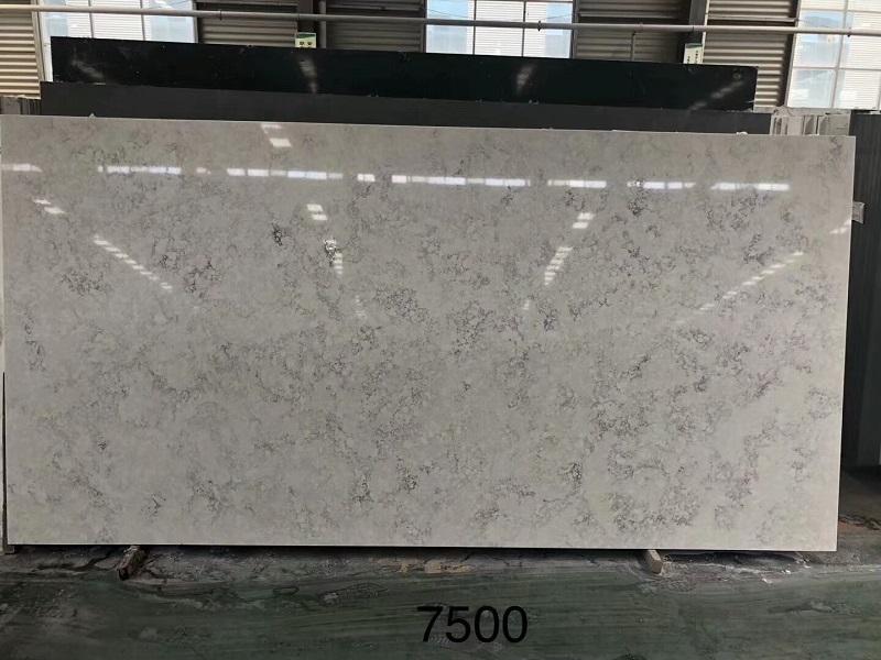 carrera grey quartz stone slab
