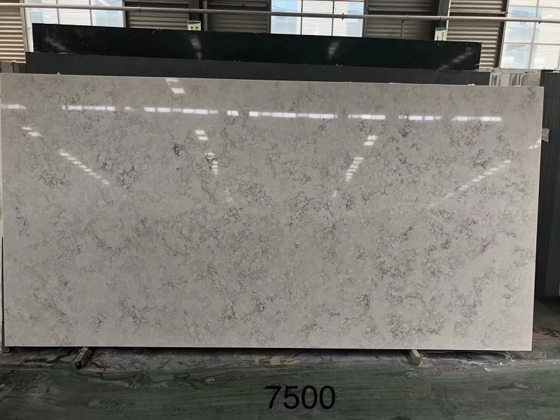carrara grey quartz stone slab