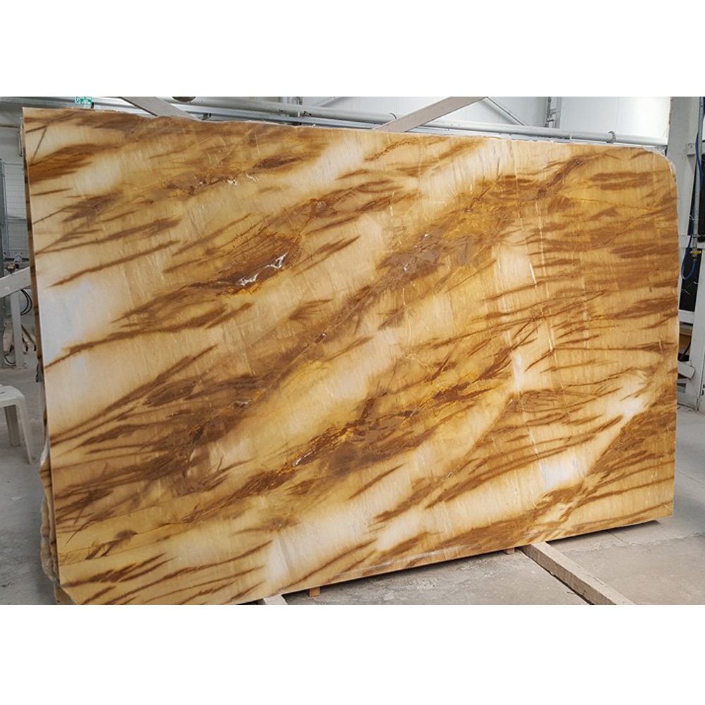 Picasso Gold Marble Slab