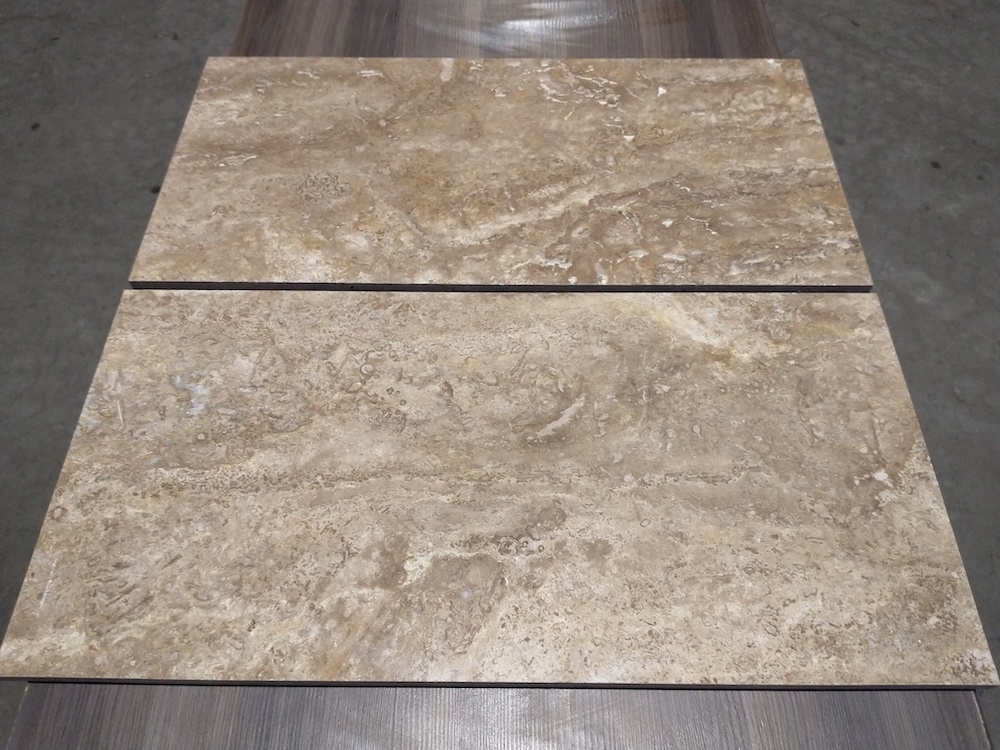 Noche Travertine Cross Cut Filled-Polished Tile