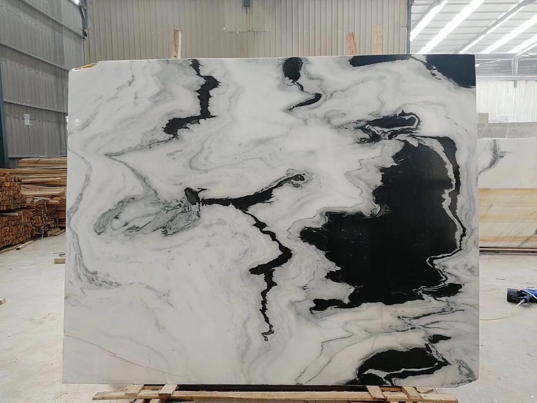 New arrival panda white marble