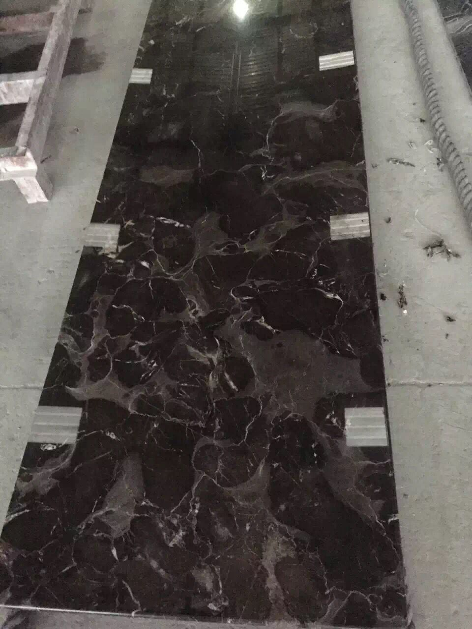 Chinese dark emperador Natural Marble Slabs for hotels  memorial buildings cinema and supermarkets