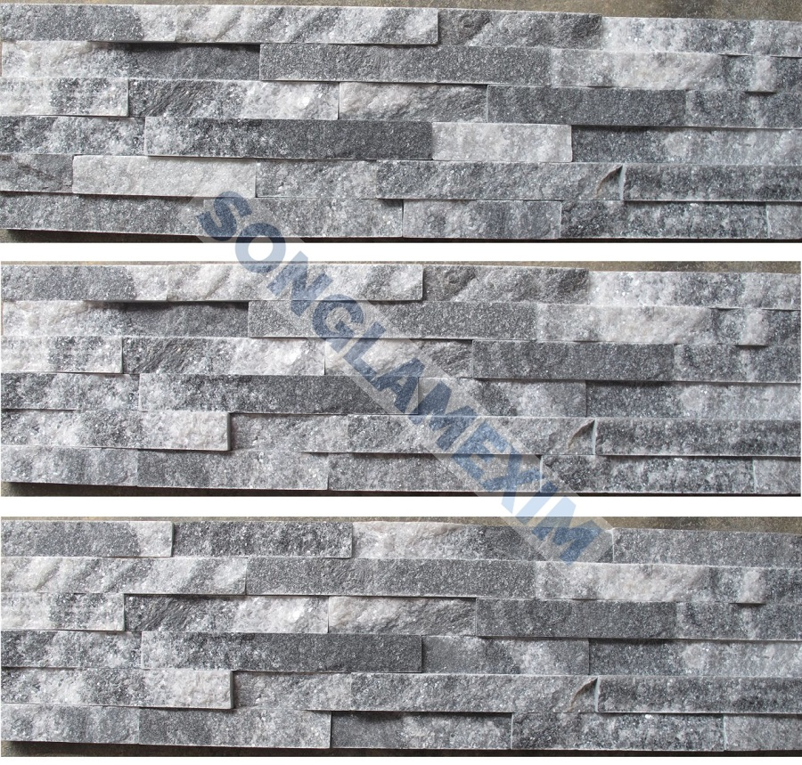 Cloudy Grey Glued Wall Panel