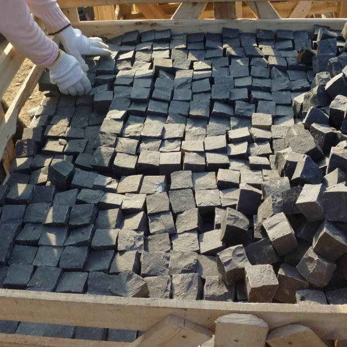 Black Basalt Cobbles Garden Stone