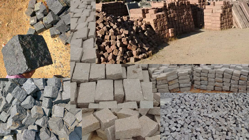 granite cobble stone setts paving regulation belgian blocks