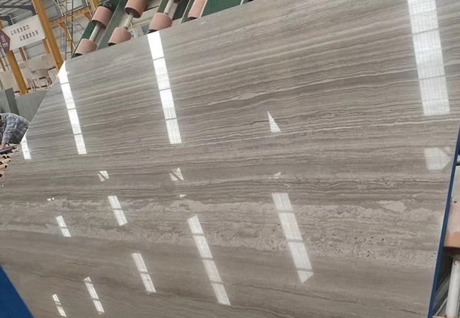 Polshed Coffee Wood Grain Marble Slabs