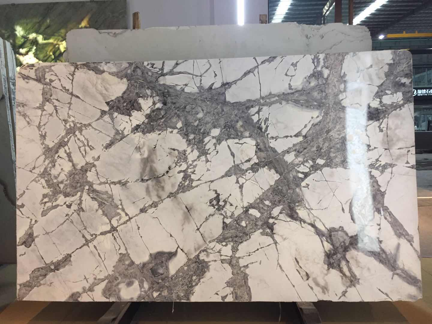 Cold River Snow Marble China White Polished Tile for Flooring
