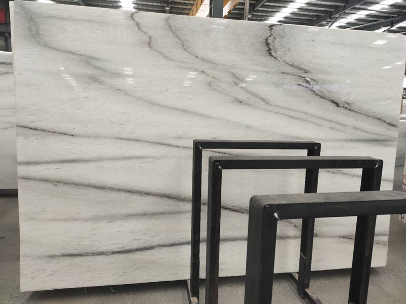 Colombia White Marble Slabs with black Veins
